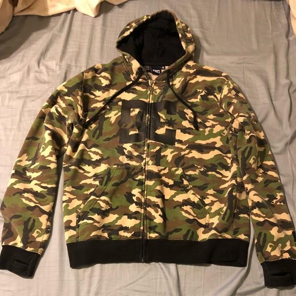8a9bc43dd1033 DC Jackets & Coats | Retro Camo Hoody Size Medium | Poshmark